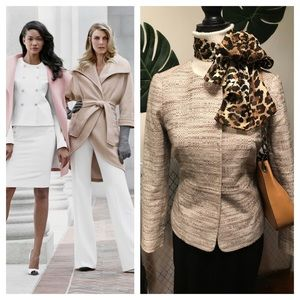 The limited scandal collection ivory tweed blazer